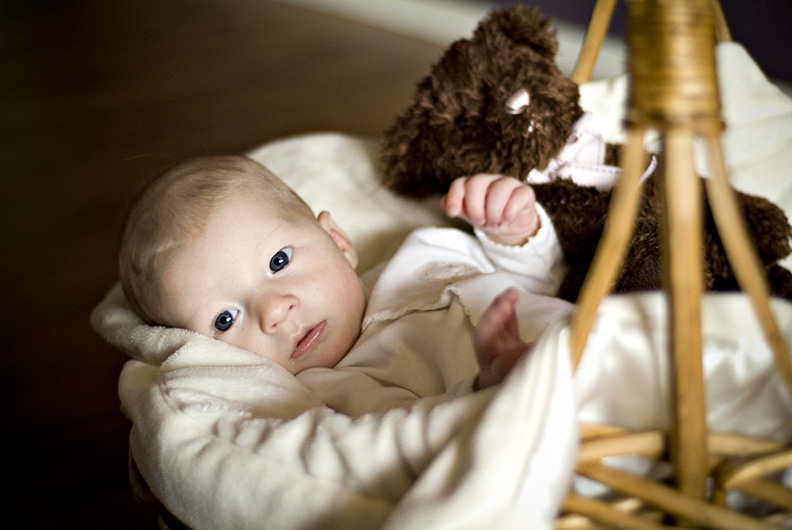 baby-in-basket-with-bear