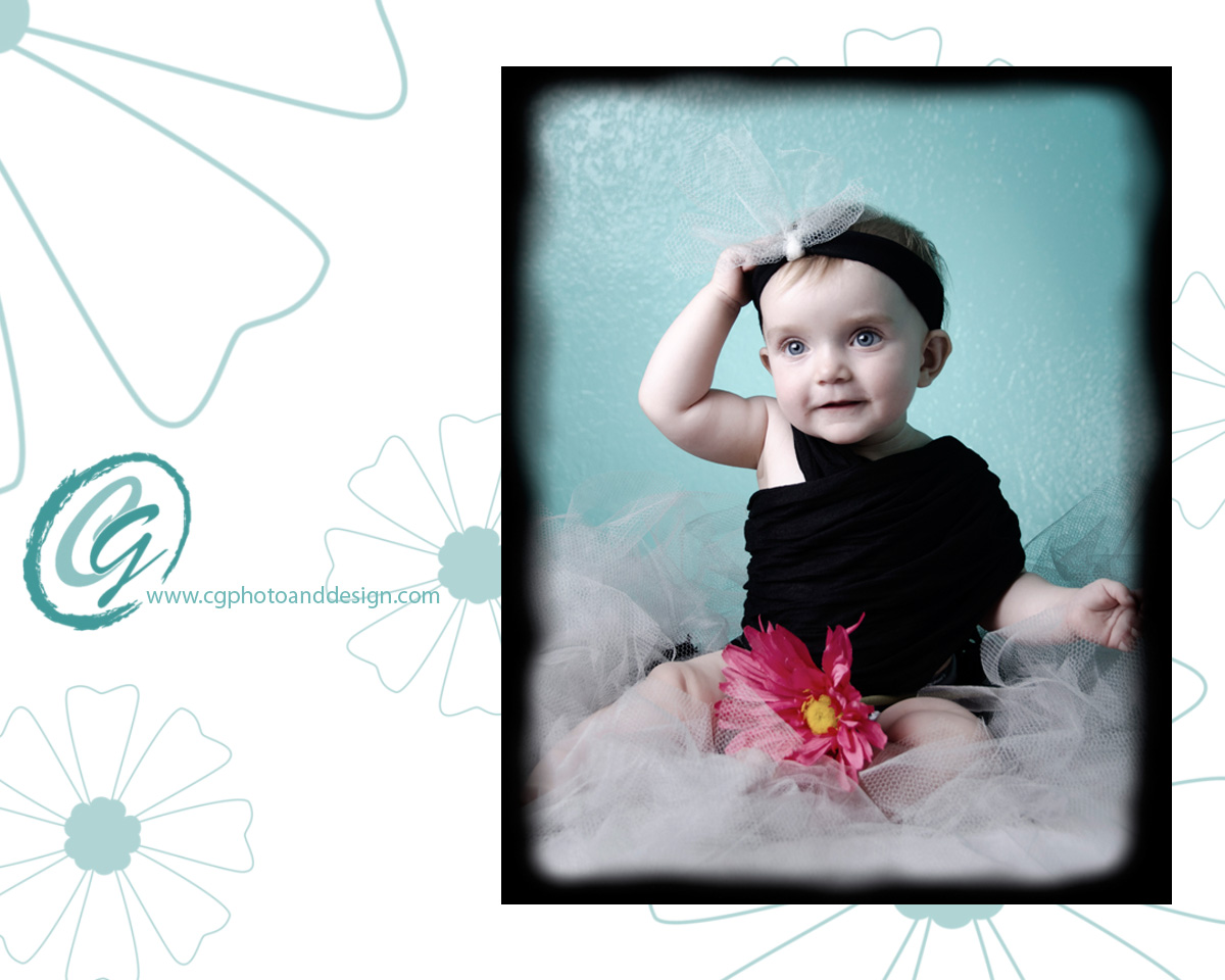 CG Photo and Design own baby has her portraits taken my mother who is a photographer in Chandler, AZ.