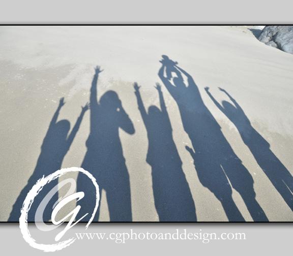 family-reflection-water-beach-children-6