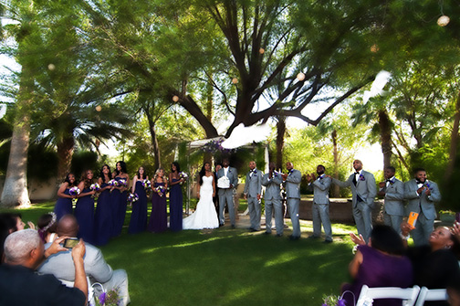 Photography of Rachael and Ryan Wedding at Secret Garden in Phoenix